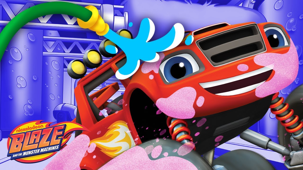 Car Wash Surprise #13 w/ Blaze & Slime! | Blaze and the Monster Machines