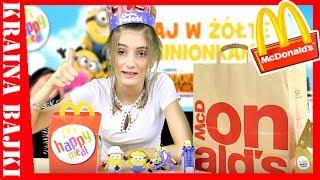 HAPPY MEAL Gru, Dru i Minionki SERIA 2 Despicable Me 3 vs Graj w Żółte z Minionkami MCDONALD