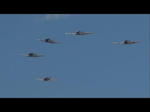 2017 World War II Weekend - North American T-6 Texan Flight