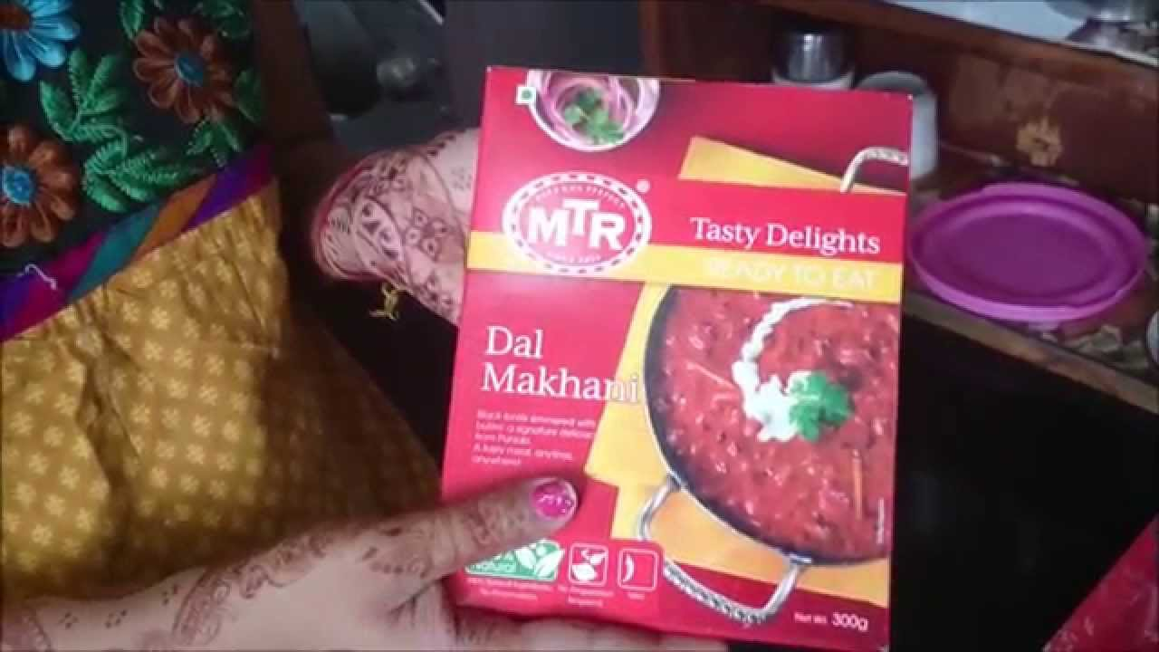 MTR Ready to Eat Dal Makhani UnBoxing & Review by Happy Pumpkins