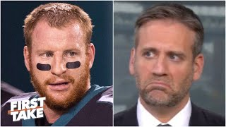 Max Kellerman isn't impressed with Carson Wentz's comeback win vs. the Eagles | First Take
