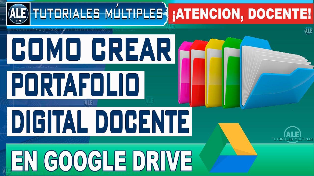 Como Hacer Un Portafolio Digital DOCENTE En Google Drive - Crear Portafolio Virtual GRATIS