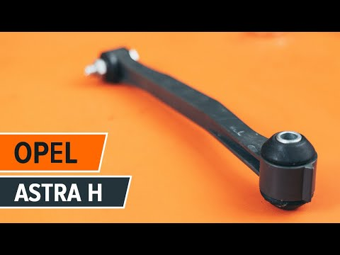 How to replace Front Anti Roll Bar Link on OPEL ASTRA H TUTORIAL | AUTODOC