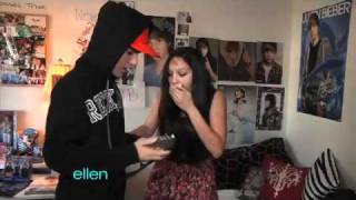 A Huge Surprise for Justin Bieber's Superfan!(An Ellen viewer, Paige, is a huge Justin Bieber fan, so Ellen set up a big surprise for Paige at her house -- Justin himself! Then Ellen had another surprise for her ..., 2011-02-09T17:25:16.000Z)