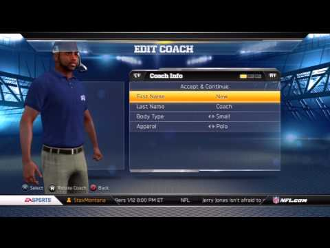 Madden NFL 13: Connected Careers Mode | Introducing NEW Coach Lance Bitches And The Buffalo Bills