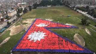 World's largest Human flag In Nepal