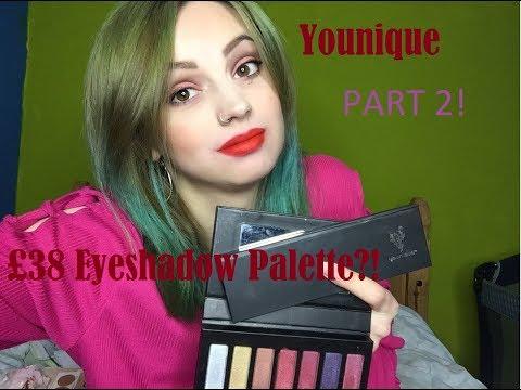 £38 Eyeshadow Palette?! Testing Younique Makeup // Part 2 - Eyeshadow - 동영상