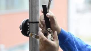 Установка уличной антивандальной IP-камеры видеонаблюдения AXIS M3005-V на столб(В видео демонстрируется порядок установки уличной антивандальной IP-камеры видеонаблюдения AXIS M3005-V на стол..., 2013-10-31T06:42:18.000Z)