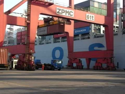 Tianjin Port ,Loading of Container 天津港集装箱码头