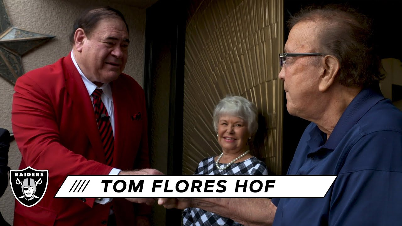 Hall of Fame inductees Tom Flores, John Lynch and Charles ...