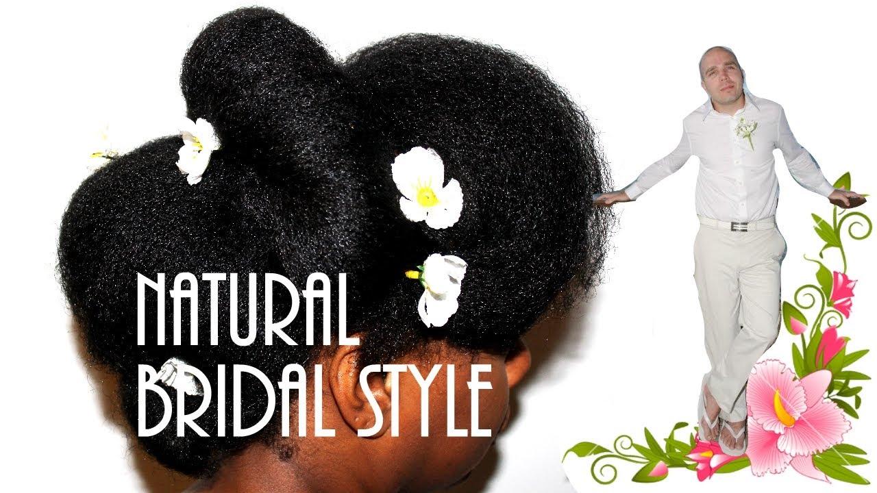 Natural Hair Bridal Wedding Style 1