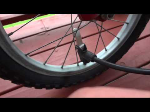 How To Pump Up A Bike Tyre Inflate Or Blow Up A Bicycle Tire