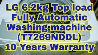 LG 6.2 kg Fully Automatic Top Load Washing Machine White | 10 years warranty | PBross Unboxing
