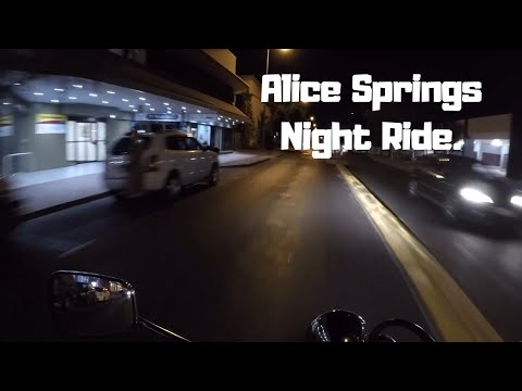 Alice Springs: Night Time Motorcycle Ride! (Classic Paddy)