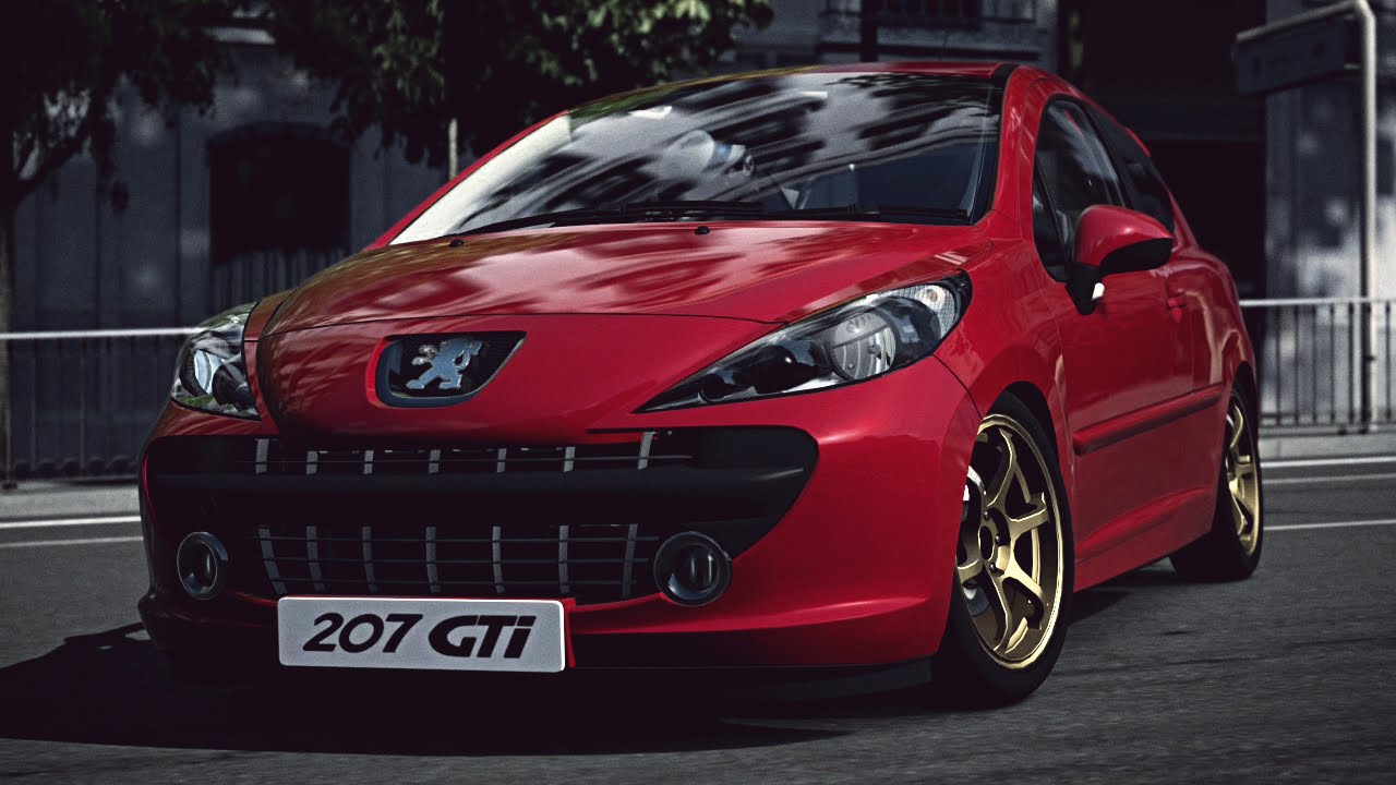 gt6 peugeot 207 gti 39 07 exhaust comparison youtube. Black Bedroom Furniture Sets. Home Design Ideas