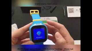 Tycho 3G Waterproof Realtime Tracking Anti-lost Step Counter Phone Call GPS Watch for Kids