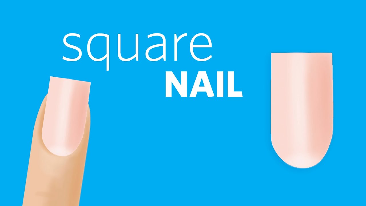 How to File Square Nails - YouTube