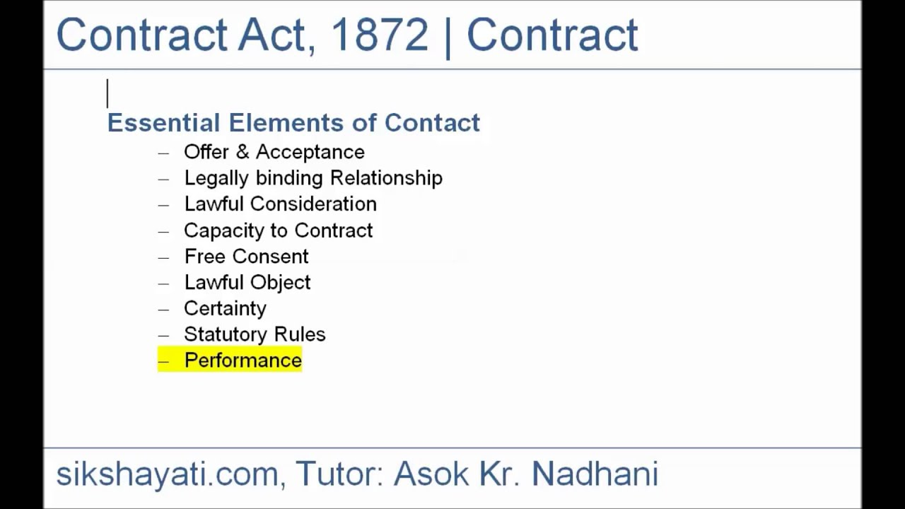 High Quality ... 3 Essential Elements Of A Valid Contract A Valid Contract Is A Written  Or As The