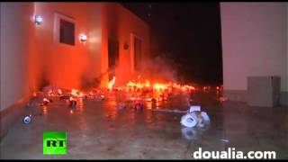 Video: US consulate in Benghazi on fire, ambassador to Libya reported killed
