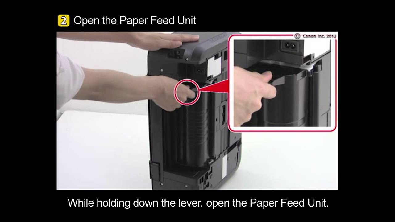 PIXMA MG3520: Removing a jammed paper: paper feed unit | Doovi