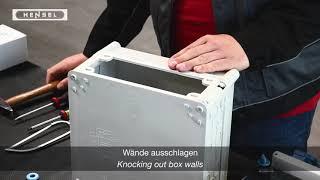 Mi - Wände ausschlagen / Knocking out box walls