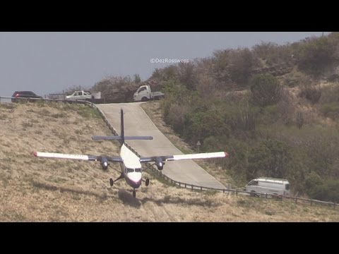 Twin otter close to the hill at St Barths