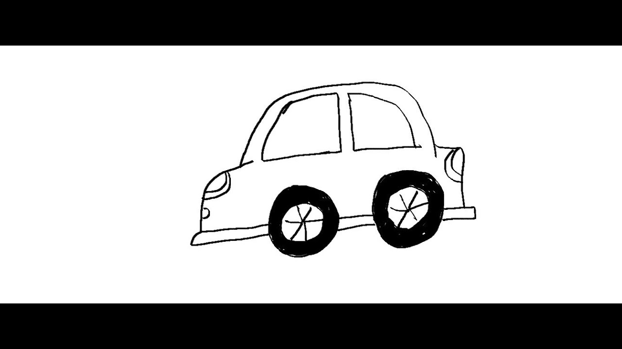 easy kids drawing lessons how to draw a cartoon car youtube - Cartoon Drawings Of Kids