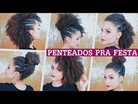 PENTEADOS P/ FESTAS - cabelos crespos/cacheados   por Ana Lídia Lopes