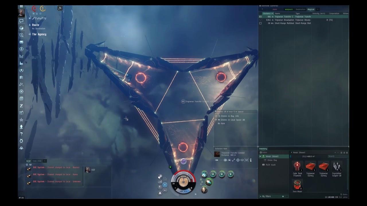 Tier 1 Abyssal Dead Space | VEXOR Tech 1 fit | Alpha , Newbro | EVE Online
