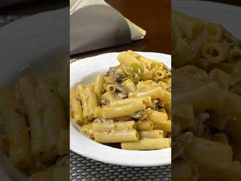 Pasta con Champiñones Doria