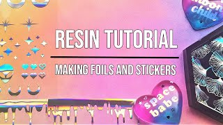 Resin Tutorial- How i make my foils and sticker inserts | Seriously Creative