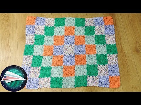 Baby Blanket DIY | Patchwork Blanket | C2C Blanket | Crocheting a Patterned Blanket