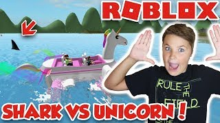 UNICORN VS SHARK! ROBLOX SHARKBITE