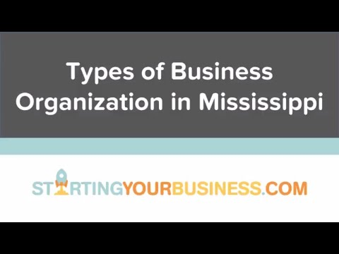 Types of Business Organization in Mississippi - Starting a Business in Mississippi