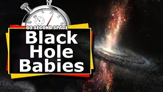 Black Hole Babies : Star Birth In The Outflow Of Black Holes / 60 Second Science