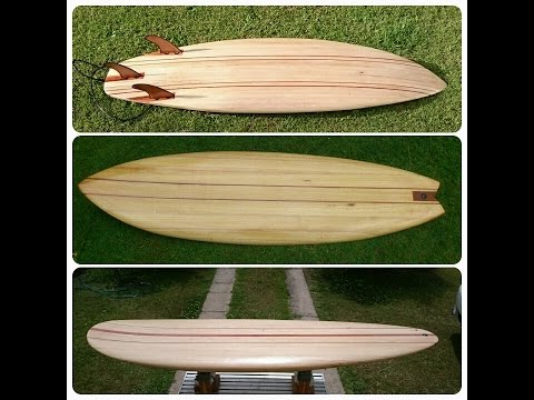 Wooden chambered Surfboard