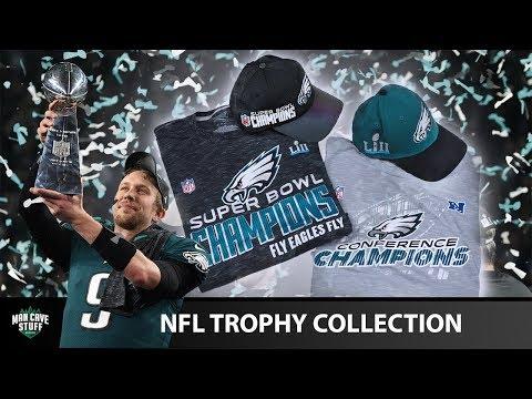 "Super Bowl 52 Run Hats And Tees | NFLshop.com ""Trophy"" Collection | Philadelphia Eagles"