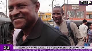 ABSENCE OF ATIKU AND BUHARI AT THE PRESIDENTIAL DEBATE: NIGERIANS REACT