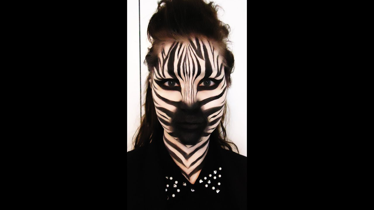 zebra makeup tutorial youtube. Black Bedroom Furniture Sets. Home Design Ideas