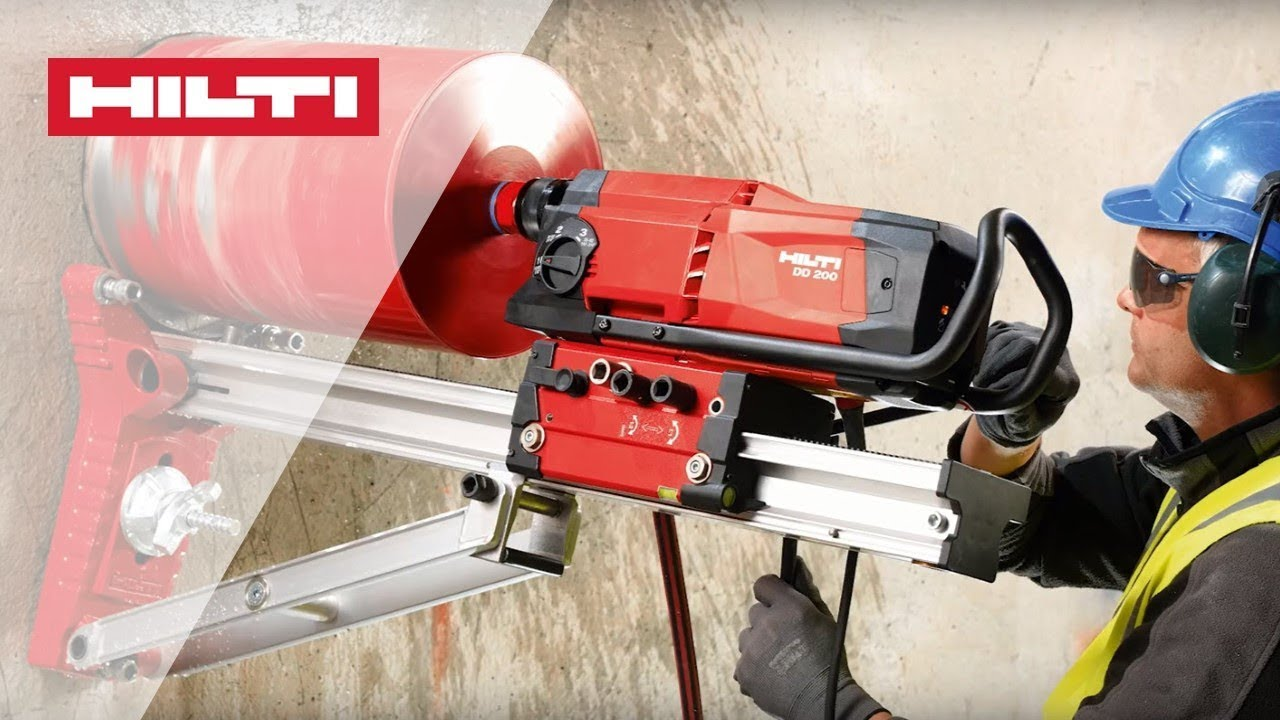 HOW TO use Hilti DD 200 diamond coring tool for rig-based drilling