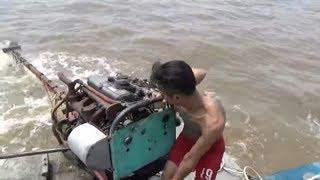 Chạy vỏ lãi máy xe khủng đi biển đánh cá/fishing