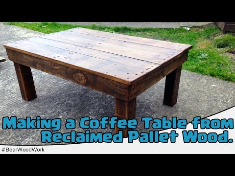 This nifty instructional video demonstrates exactly how to transform an old wooden  pallet into a reclaimed coffee table. A table like this would be perfect ... - 33 DIY Pallet Garden And Furniture Ideas