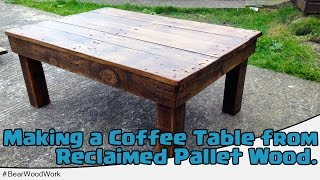 Coffee Table from Reclaimed Pallet Wood