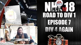 NHL 18 ROAD TO DIV 1 - EPISODE 7 - DIV 4, RUBY SETS, HUT CHAMPIONS