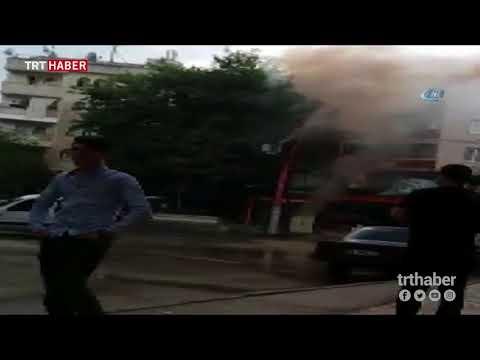 Bursa'da bomba gibi patlayan trafo vatandaşı korkuttu