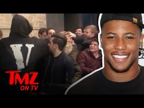 DJ Slab 1 - NFL Star Saquon Barkley Hands Out $100 Bills Outside Of Club