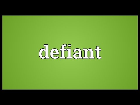 Defiant Meaning