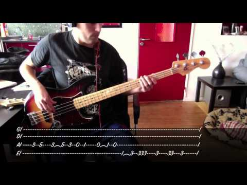 Bruno Mars - Locked Out Of Heaven - Bass Cover with Tab