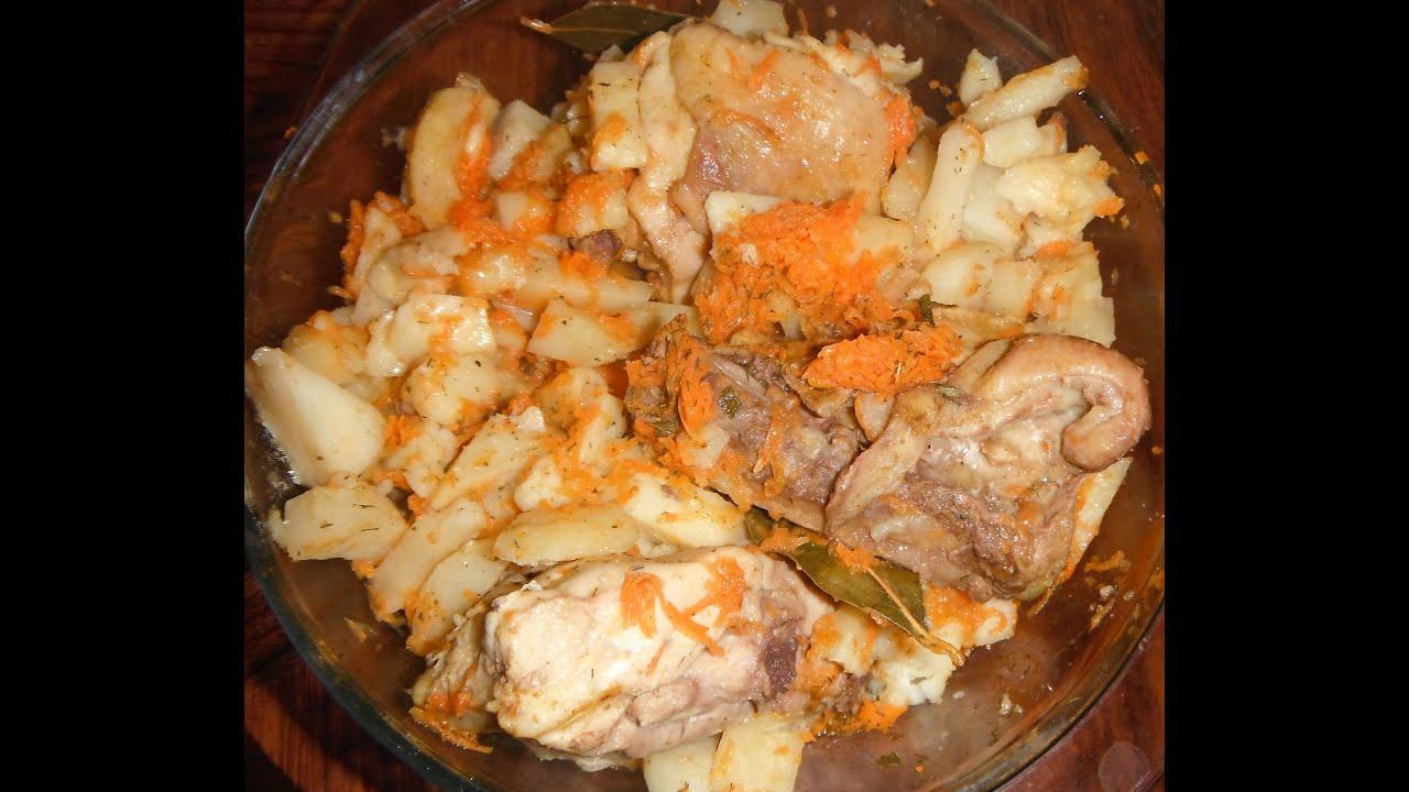 картошка в горшочках с мясом в микроволновке