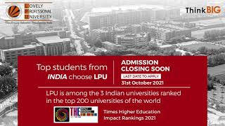 LPU | Ranked as Top University | Admissions Open